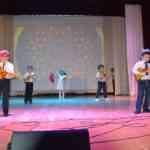 Выступление на сцене районного Дома культуры